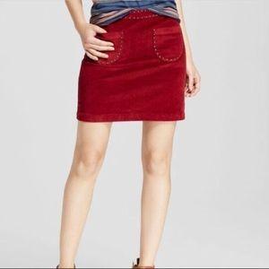 Velvety Maroon Skirt